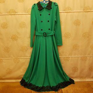 British Style Waistband Maxi Dress