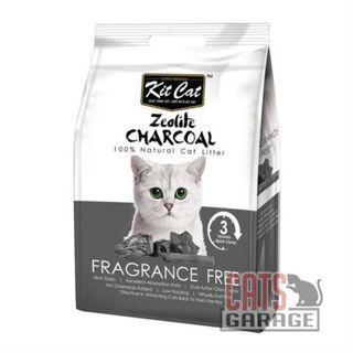 Kit Cat® Zeolite Charcoal - Fragrance Free Cat Litter 4kg