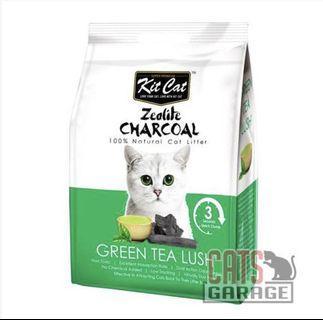 Kit Cat® Zeolite Charcoal - Green Tea Cat Litter 4kg