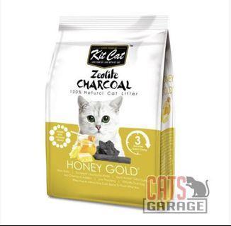 Kit Cat® Zeolite Charcoal - Honey Gold Cat Litter 4kg