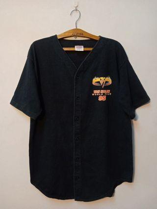 1995 Van Halen Balance world tour button up baseball shirt