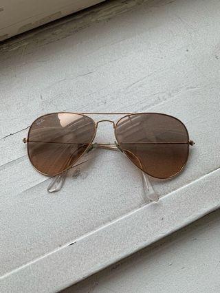 Rayban Gold/Brown Aviator Sunglasses