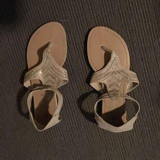 Tan And Sparkle Coloured Sandals