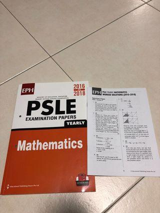 🚚 PSLE Maths 2016-2018 with answer booklet