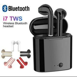 TWS i7s earbuds 5.0 Bluetooth wireless headset with charging box
