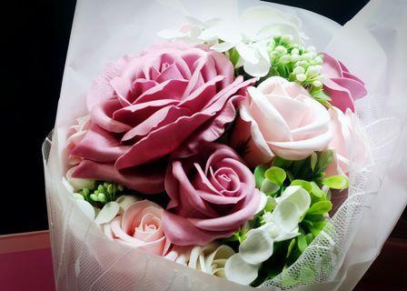 Floral Soap Bouquet (10 Stalks) Roses Flower