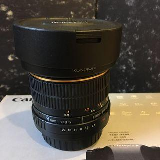 Rokinon Fisheye 8mm f3.5 (Canon Mount)