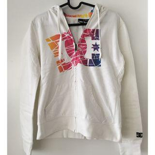 DC Shoes Rainbow White Hoodie, size M