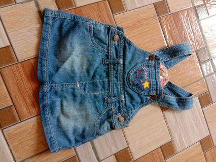 Overall jeans curly baby size s