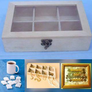 Wooden Storage Box Organiser