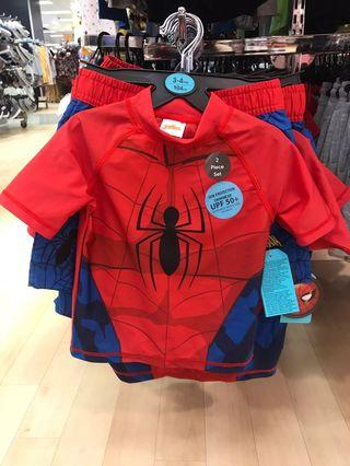 Spider man 防曬泳衣+泳褲套裝