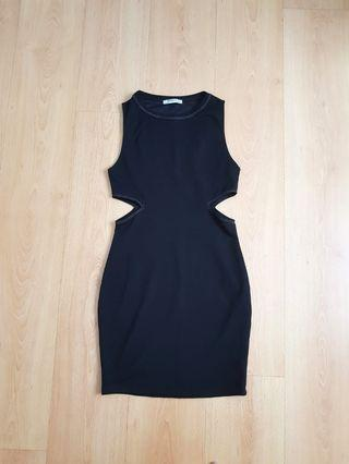 Zara Cutout Black Bodycon Dress