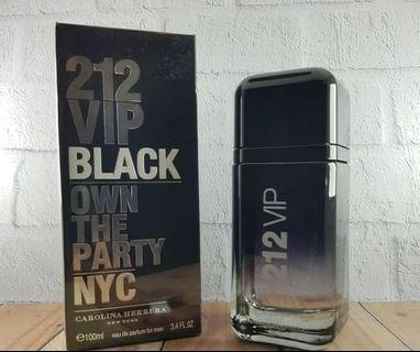 212 black parfum ori singapore