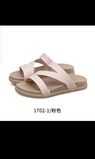 Instock Non slip waterproof soft bottom pink shoes