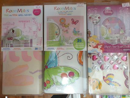 🚚 Wall stickers for girls