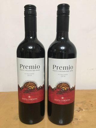 5枝紅酒 Red Wine 2018 Santa Carolina Premio Red, CENTRAL VALLEY, CHILE