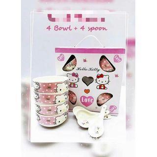 10NO/O5*J💥SK💥 💗 可爱卡通陶瓷碗 💗现货 🎉🎉买一套送你多一套‼️超值得的,快手有慢手无‼️送送送😍.
