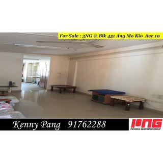 For Sale : 3NG @ Blk 451 Ang Mo Kio Ave 10