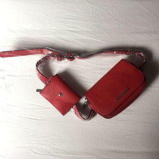 Brand New Aldo Red Belt Bag