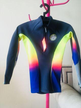 💯 Authentic Rip Curl Wetsuit / Swimming Attire / Dive Super Stretch G Bomb Multicolor Rainbow