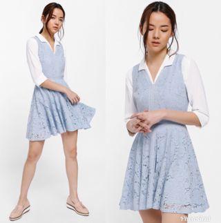Lovebonito Nalgona Lace Overlay Dress