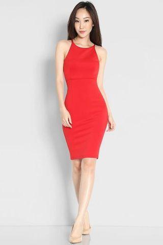 🚚 Red Bodycon Dress