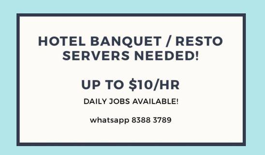 🚚 HIRING PART TIME SERVERS! NO EXP REQUIRED