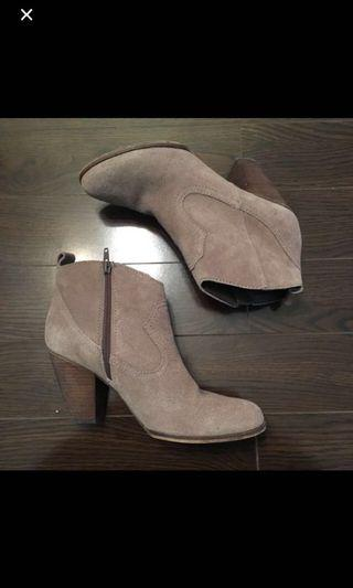 Steve Madden Taupe Suede Booties US8.5