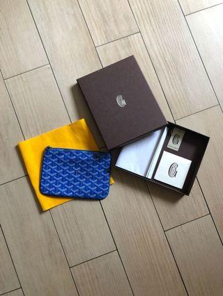 Goyard clutch mini blue