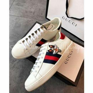 Gucci Ace Embroidered Cat Sneakers