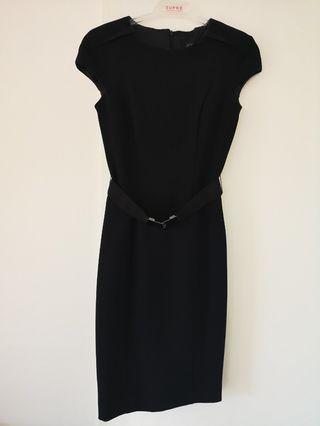 Zara black winter dress
