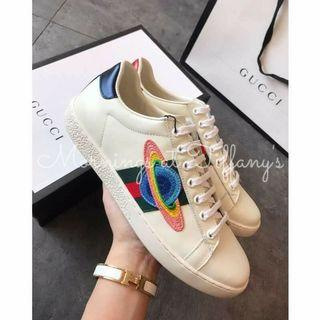 Gucci Ace Embroidered Planet Sneakers