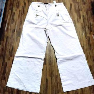 Zara Basic Authentic White Pants