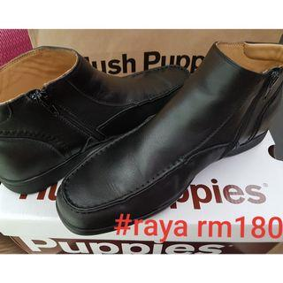 #RAYA180 HUSH PUPPIES Asuka PR Leather High Zipped Work Shoes