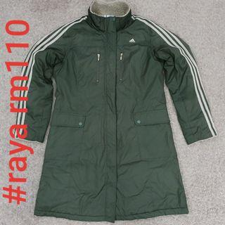#RAYA110 ADIDAS LARGE Clima365 Olive Green Ladies Long Light Jacket