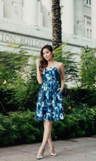 🚚 The thread theory Midnight Garden Tube Dress