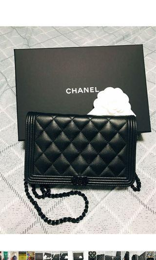 Chanel boy WOC black