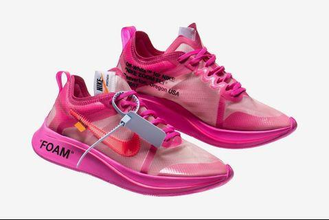 Off White ZoomFly Pink
