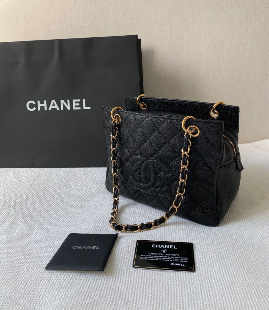 0700fd83bf1d 100% Authentic Chanel Petit Timeless Tote (PTT) Chain Bag
