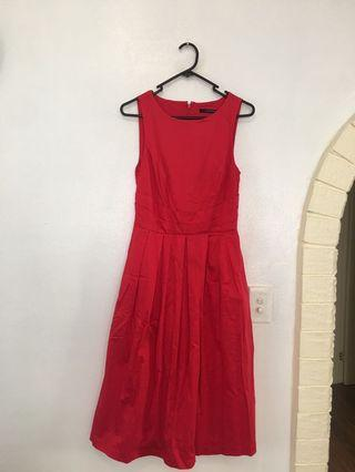 Red Portmans Dress Size 8