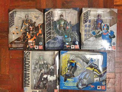 Bandai S.H.Figuarts Masked Rider BLACK RX, ROBORIDER, BIORIDER, SHADOW MOON, ACROBATTE.Total limited FULL SET!