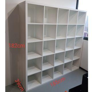 """Kallax"" style big shelving unit 5x5"