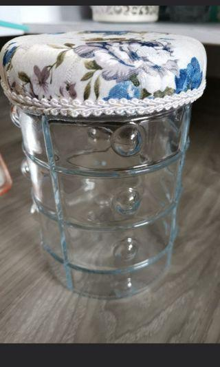 Floral Glass canister