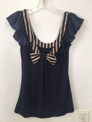 Ted Baker Nautical Style Top Size 0 (AUD 6)