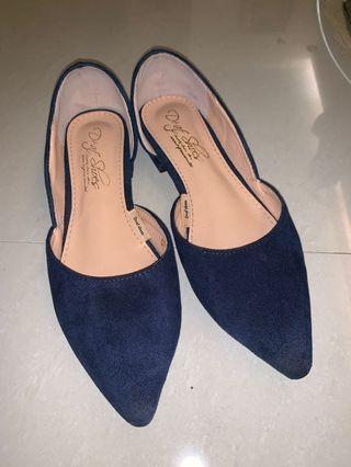 D+af藍色尖頭鞋