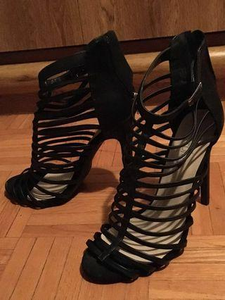 Black Strappy Heels (Club Couture)