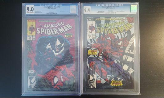 Amazing Spider-man #316 CGC 9.0 & #317 CGC 9.4 (1989 1st Series) Fiery Fight-To-The-Death With VENOM! Todd McFarlane's Awesomeness! Key Books & RED-HOT Collectibles🔥🔥🔥!