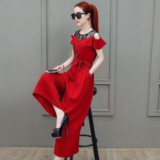 Elegant Red jumpsuit