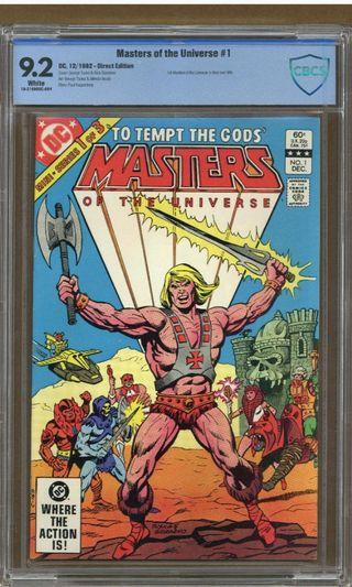Masters Of The Universe #1 CBCS 9.2 (1982 DC 1st Series)- 1st Appearance of He-Man & Battle-Cat! May 2021 Movie Release! Super Hot Collector's Item! DC Comics