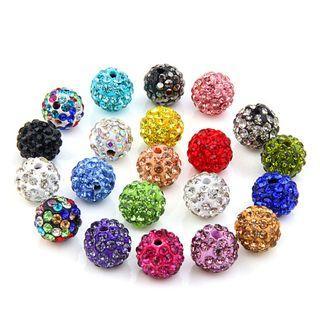🚚 20pcs Disco Ball Beads 10mm
